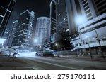 traffic in hong kong at night   Shutterstock . vector #279170111