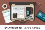 businessman's briefcase on a... | Shutterstock .eps vector #279175481