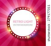Retro Light Round Banner....