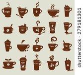 coffee cups image design set... | Shutterstock .eps vector #279181301