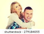 portrait of happy playful couple | Shutterstock . vector #279184055