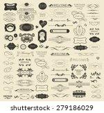 set of calligraphic elements... | Shutterstock .eps vector #279186029