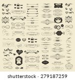 set of calligraphic elements... | Shutterstock .eps vector #279187259