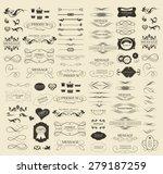 set of calligraphic elements... | Shutterstock .eps vector #279187259