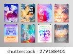 set of poster  flyer  brochure...   Shutterstock .eps vector #279188405