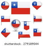 chile flag collection | Shutterstock .eps vector #279189044
