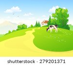 vector illustration of a rural... | Shutterstock .eps vector #279201371