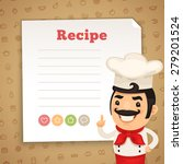 chef presenting recipe card | Shutterstock .eps vector #279201524