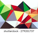 polygon lowpoly abstract... | Shutterstock . vector #279201737