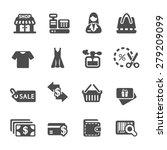 shopping icon set 7  vector... | Shutterstock .eps vector #279209099