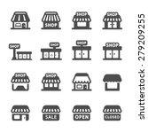 shop building icon set  vector... | Shutterstock .eps vector #279209255