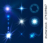 glow sparks collection. light... | Shutterstock .eps vector #279209867