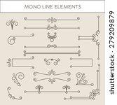 set of calligraphic elements  ... | Shutterstock .eps vector #279209879