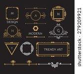 mono line elegant design... | Shutterstock .eps vector #279209921
