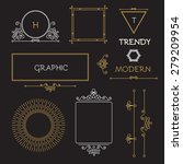 mono line elegant design... | Shutterstock .eps vector #279209954