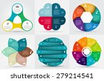 vector circle elements set for... | Shutterstock .eps vector #279214541