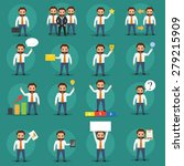 set of business people at... | Shutterstock .eps vector #279215909
