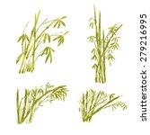watercolor paint bamboo ... | Shutterstock .eps vector #279216995