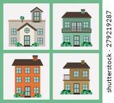 real estate design over white... | Shutterstock .eps vector #279219287