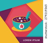 soup flat icon with long shadow ... | Shutterstock .eps vector #279219365