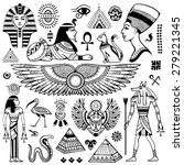 set of vector isolated egypt... | Shutterstock .eps vector #279221345