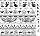 vector tribal ethnic seamless... | Shutterstock .eps vector #279221795