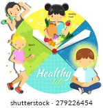 cycle of a healthy life for man ... | Shutterstock .eps vector #279226454
