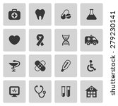 medical icons set. vector... | Shutterstock .eps vector #279230141