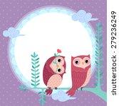 Illustration Of Owls Under The...