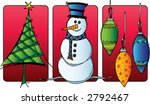 set of three christmas icons  ... | Shutterstock .eps vector #2792467