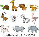 collection of animals vector... | Shutterstock .eps vector #279246761