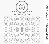 ecology line icons with circle... | Shutterstock .eps vector #279249464