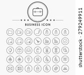 business and web line icons... | Shutterstock .eps vector #279249911