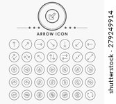 arrow line icons with circle...   Shutterstock .eps vector #279249914