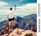 trail runner  man and success... | Shutterstock . vector #279251195