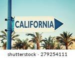 california road sign. usa | Shutterstock . vector #279254111