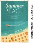 Summer Retro Beach Background...