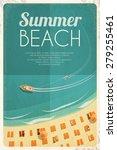 summer retro beach background... | Shutterstock .eps vector #279255461