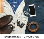 set of clothes. still life. top ... | Shutterstock . vector #279258701