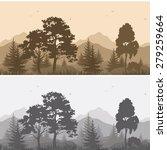 set seamless horizontal...   Shutterstock .eps vector #279259664