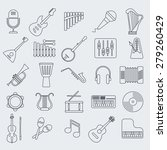 musical instrument line vector... | Shutterstock .eps vector #279260429