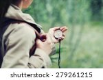 young woman discovering nature...   Shutterstock . vector #279261215