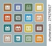 calendar icons | Shutterstock .eps vector #279270017