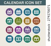 calendar icons | Shutterstock .eps vector #279270071