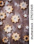 Homemade Cookies In Star Shape...