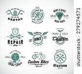 retro bicycle vector labels or... | Shutterstock .eps vector #279274571