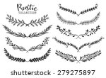 vintage set of hand drawn... | Shutterstock .eps vector #279275897