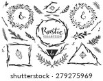 rustic decorative elements with ... | Shutterstock .eps vector #279275969