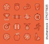 vector linear sport and fitness ... | Shutterstock .eps vector #279277835