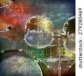 abstract green grunge vintage...   Shutterstock .eps vector #279280469